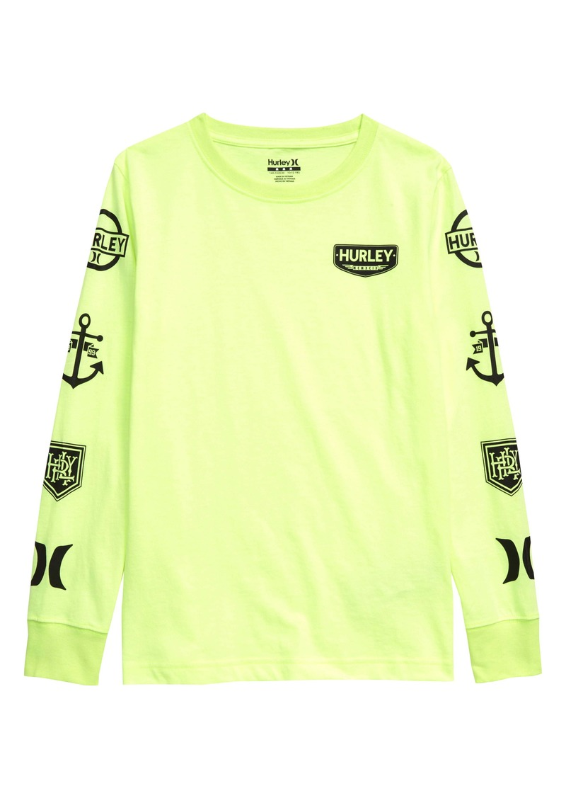 Hurley Logo Patch Long Sleeve T-Shirt (Big Boys)