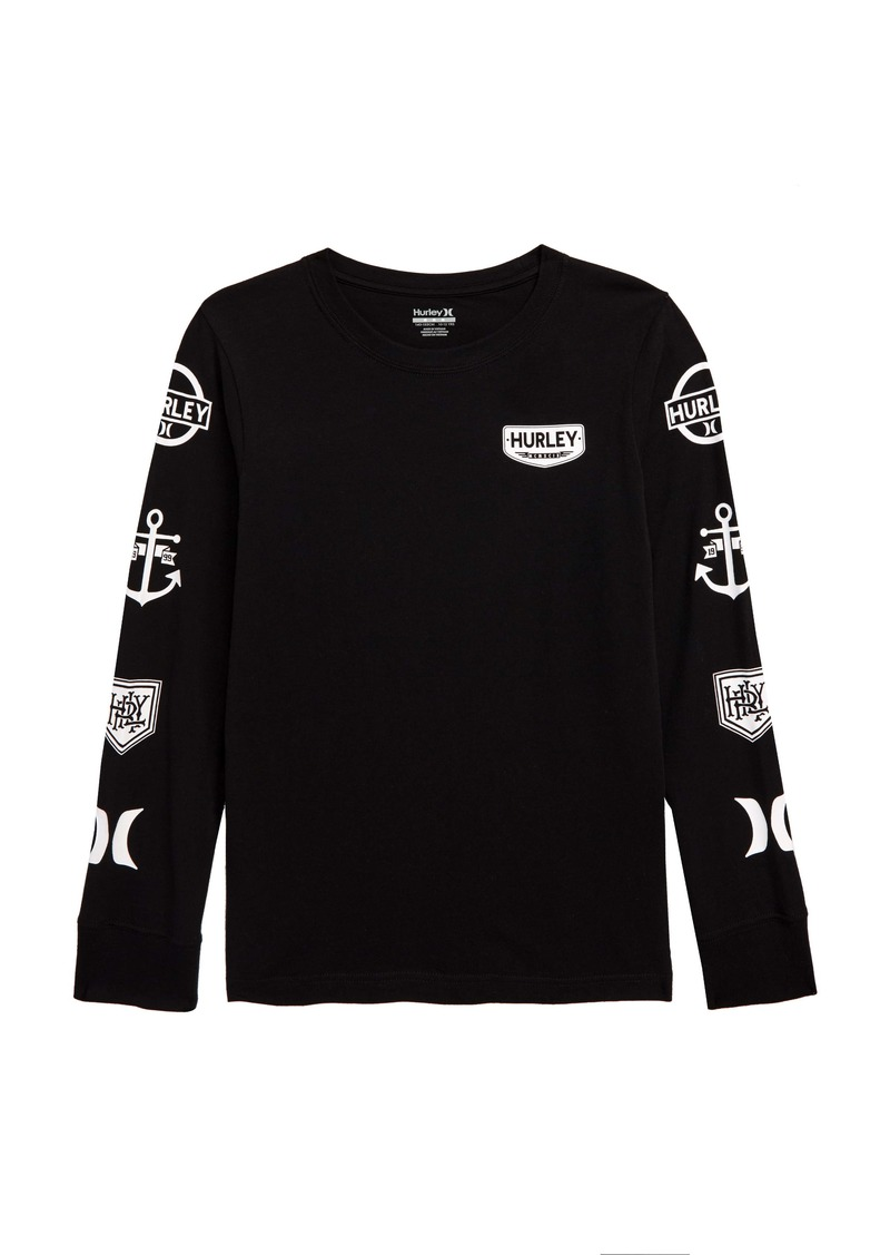 Hurley Logo Patch Long Sleeve T-Shirt (Toddler Boys & Little Boys)