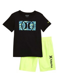 Hurley Logo T-Shirt & Athletic Shorts Set (Toddler Boys & Little Boys)