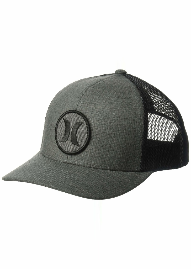 Hurley Men's Black Textures Patch Trucker Baseball Cap Crosshatch