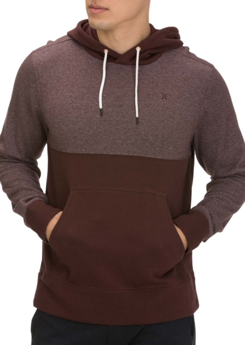 Hurley Men's Crone Textured Colorblock Hoodie