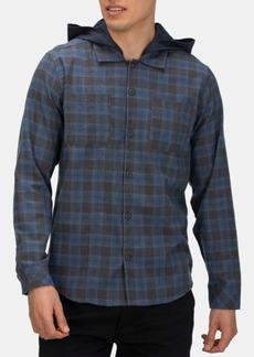 Hurley Men's Crowley Washed Hooded Long Sleeve Shirt