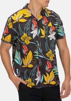 Hurley Men's Domino Floral Graphic Shirt