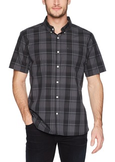 Hurley Men's Dri-Fit Plaid Short Sleeve Button Up  XL