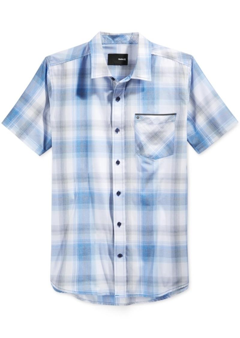 Hurley Men's Dri-fit Plaid Short-Sleeve Shirt