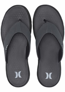 Hurley Men's Flex 2.0 Sandal Dark Grey/whiteblack  M US