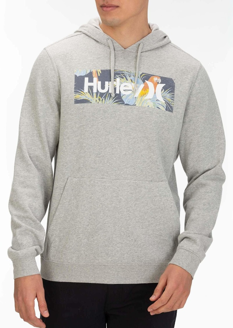 Hurley Men's Floral Box Pullover Fleece Hoodie  XL