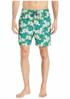 "Hurley Men's Floral Sierra 17"" Volley Swim Short  S"