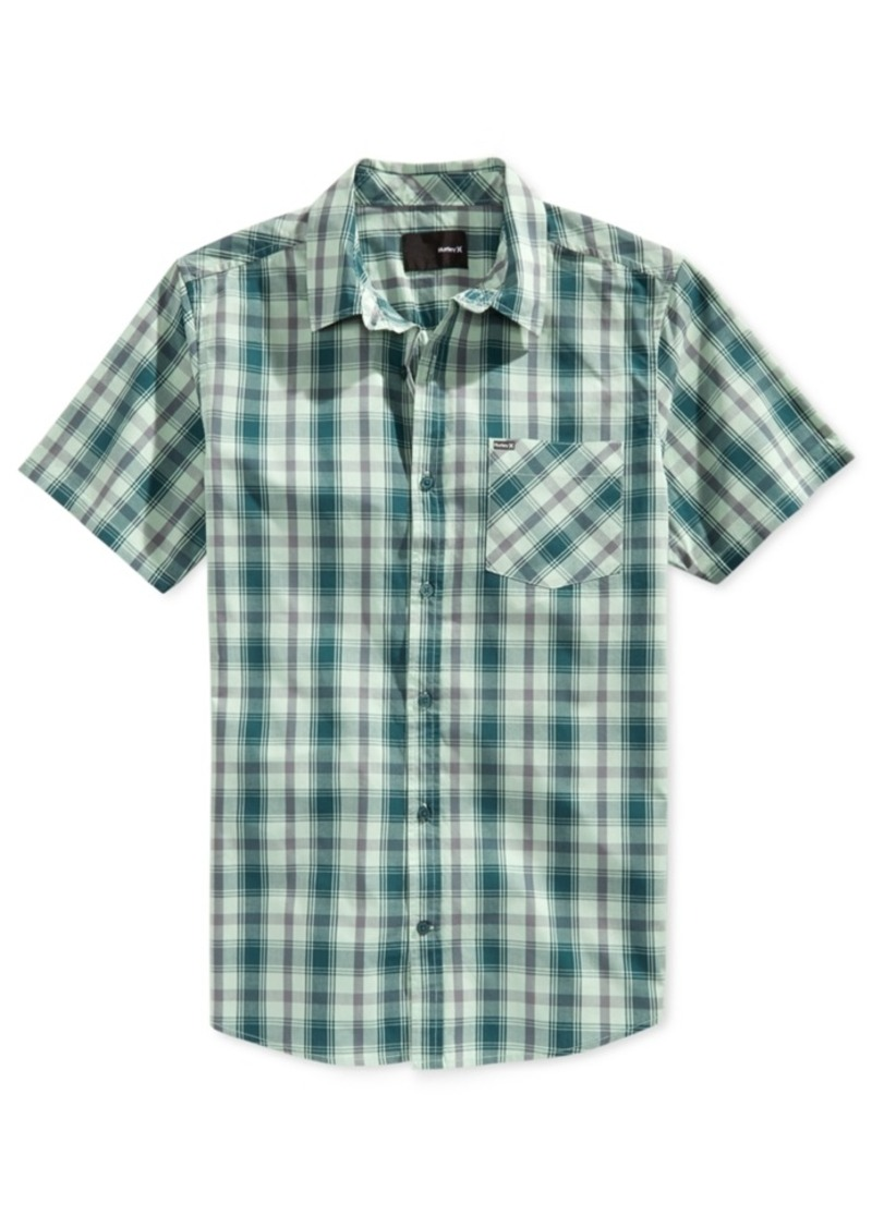 Hurley Men's Franco Plaid Short-Sleeve Shirt