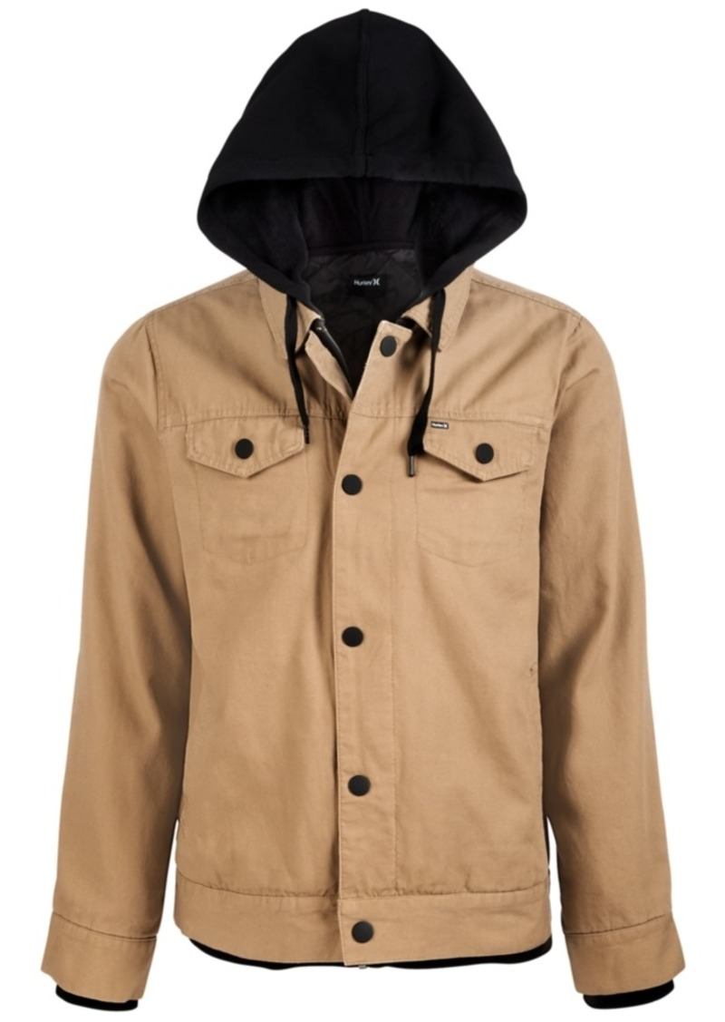 Hurley Men's Hooded Truck Stop Jacket