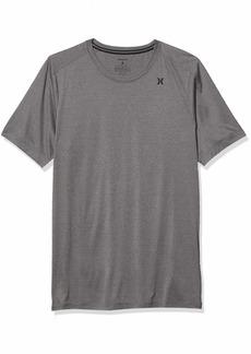 Hurley Men's Nike Dri-Fit Short Sleeve Protection +50 UPF Rashguard Sun Active Shirt  M
