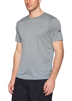 Hurley Men's Nike Dri-Fit Short Sleeve Sun Protection +50 UPF Rashguard  M