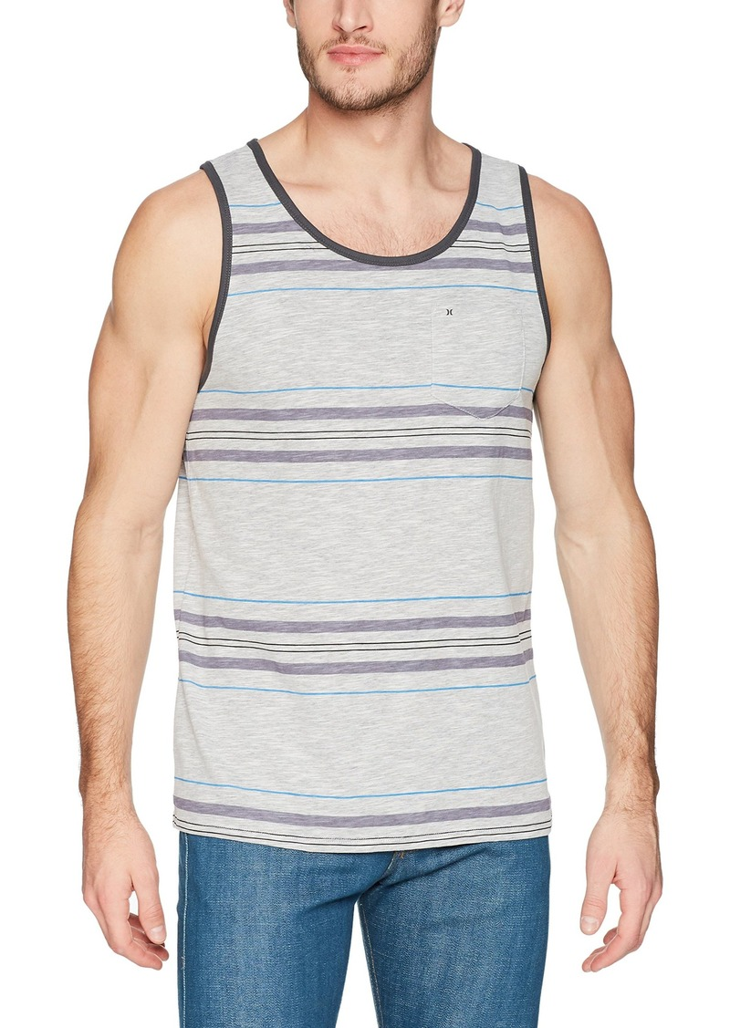ad9e5fd9058aed SALE! Hurley Hurley Men s Nike Dri-Fit Stripe Yesterday Tank Top L