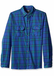 Hurley Men's Nike Dri Fit Syd Plaid Long Sleeve Woven Shirt deep Royal Blue M