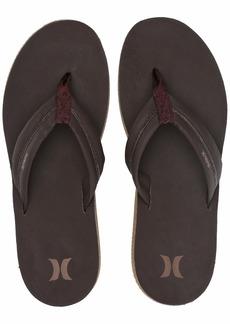 Hurley Men's Nike Lunarlon Lunar Leather Flip Flop Sandal Baroque Brown-Liz  M US