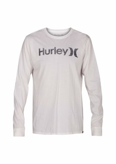 Hurley Men's One & Only Push Thru Graphic Long Sleeve Tee Shirt  S