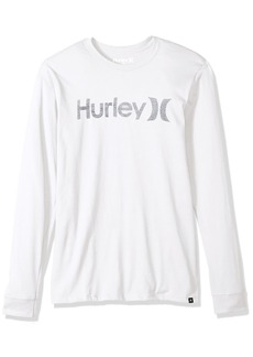 Hurley Men's One & Only Push Thru Graphic ong Sleeve Tee Shirt