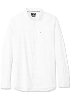 Hurley Men's One & Only Textured Long Sleeve Button Up  S