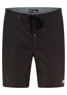 """Hurley Men's One and Only Solid 20"""" Board Shorts Black"""