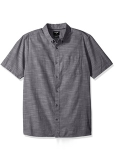 Hurley Men's One and Only Textured Short Sleeve Button up  L