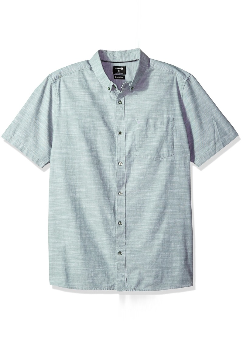 Hurley Men's One & Only Textured Short Sleeve Button Up  S