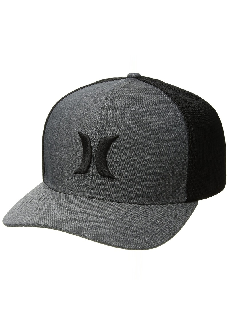 Hurley Men's ONE and Textures Snapback Curved Bill Trucker HAT  S-M