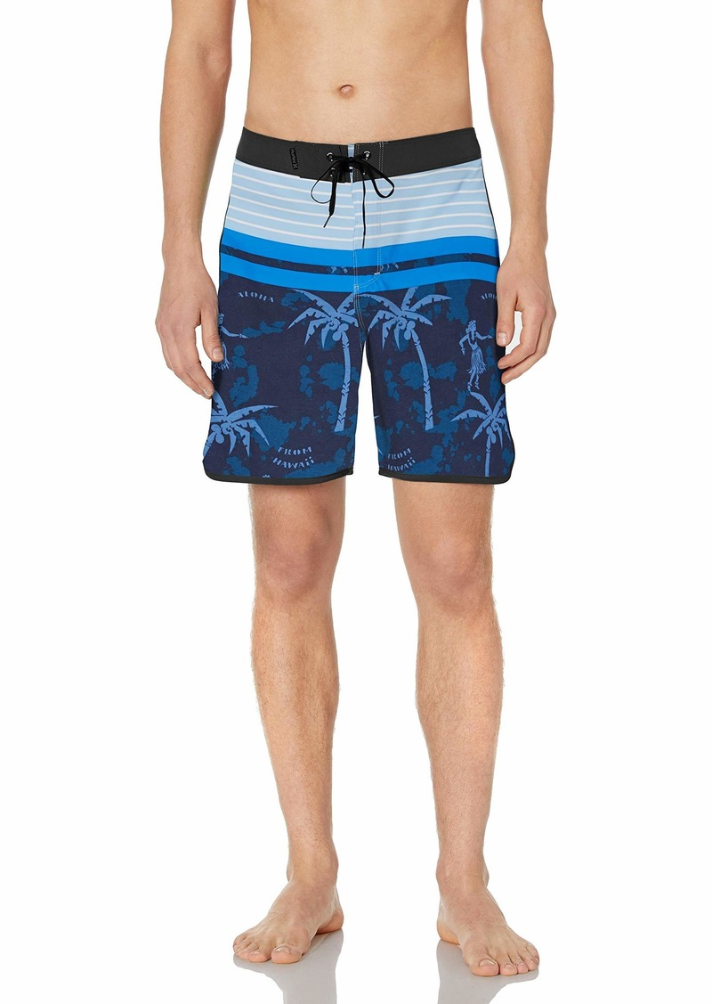 "Hurley Men's Phantom P30 Printed 18"" Scallop Hem Boardshort Swim Short"
