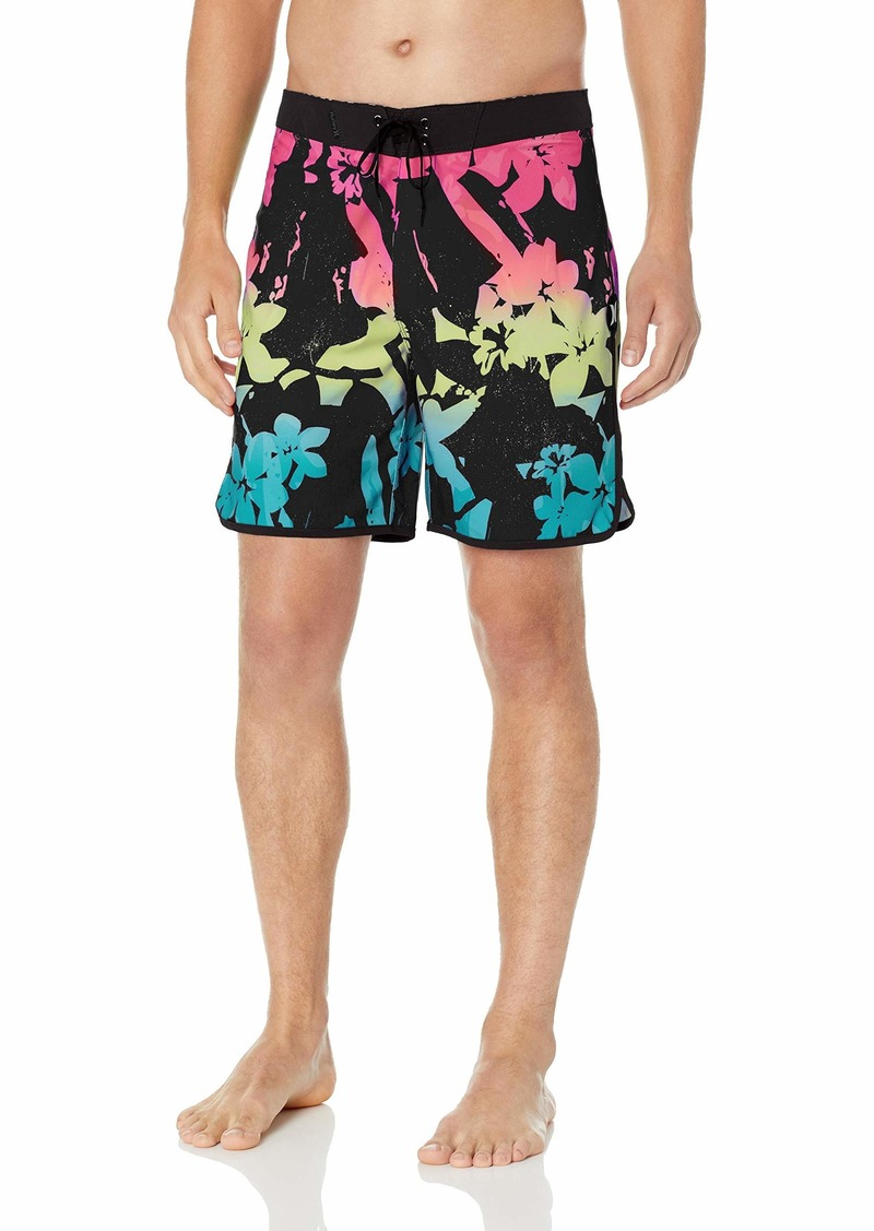 "Hurley Men's Phantom Stretch Printed 18"" Scallop Hem Boardshort Swim Short"