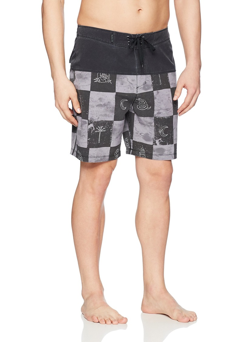 "Hurley Men's Phantom Stretch Printed 18"" Straight Hem Boardshort Swim Short"