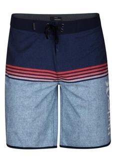 "Hurley Men's Phantom Surfside Colorblocked Ombre Stripe 20"" Board Shorts"