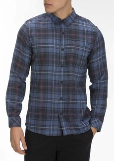Hurley Men's Plaid Vedder Flannel Long Sleeve Button Up  L