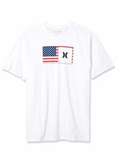 Hurley Men's Premium Destination Short Sleeve Tshirt White/White (USA) M