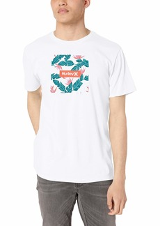 Hurley Men's Premium Floral Logo Tshirt  XL
