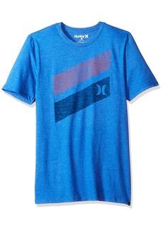 Hurley Men's Premium Icon Slash Graphic Short Sleeve Tee Shirt  L