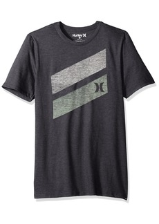 Hurley Men's Premium Icon Slash Graphic Short Sleeve Tee Shirt  M