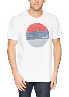 Hurley Men's Premium Short Sleeve Graphic Tshirt White//Gym red S
