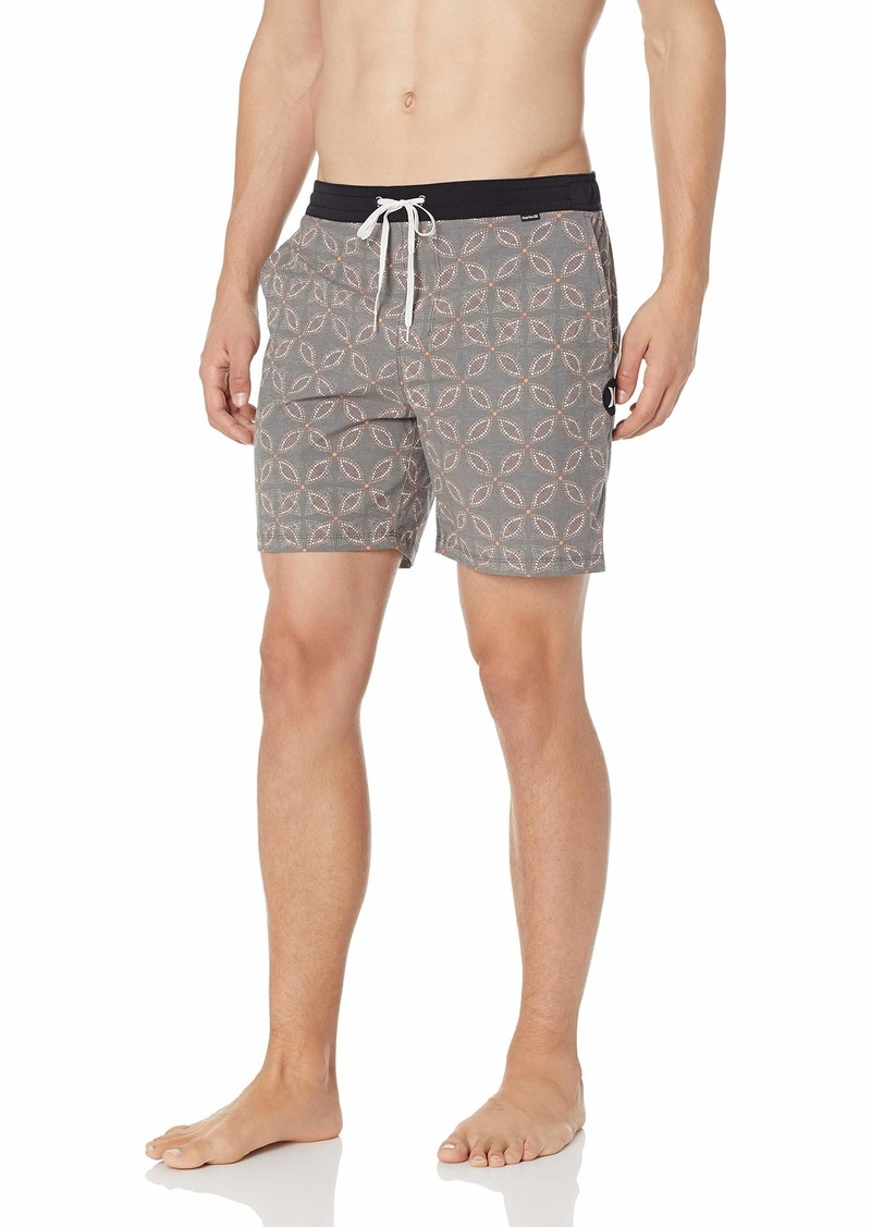 "Hurley Men's Printed 17"" Volley Swim Short"