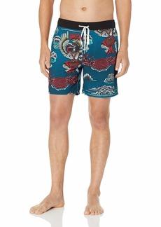 "Hurley Men's Printed 17"" Volley Swim Short"