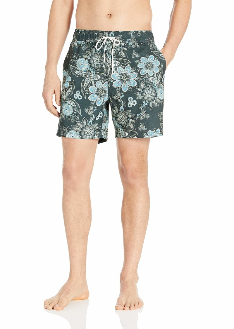 "Hurley Men's Printed 17"" Volley Swim Short  XL"
