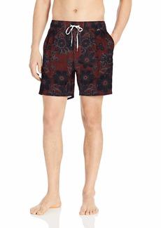 """Hurley Men's Printed 17"""" Volley Swim Short  L"""