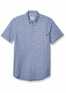 Hurley Men's Printed Short Sleeve Button Down Woven Shirt  M