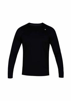 Hurley Men's Quick Dry Long-Sleeve T-Shirt Rash-Guard  XXL