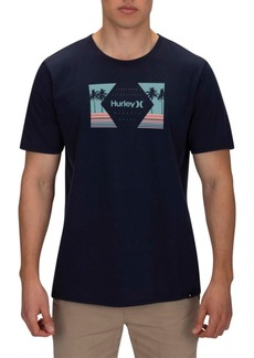 Hurley Men's Retro Palms Graphic T-Shirt