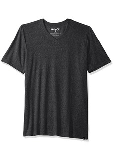 Hurley Men's Short Sleeve Staple Tri-Blend Crew Neck and Vneck Tee Shirt  M