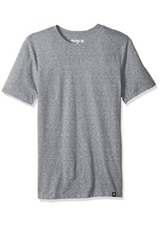 Hurley Men's Short Sleeve Staple Tri-Blend Crew Neck and Vneck Tee Shirt  XL