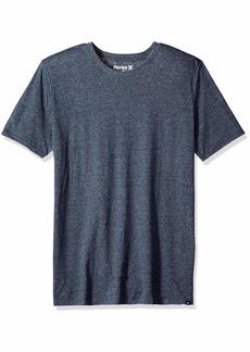 Hurley Men's Short Sleeve Staple Tri-Blend Crew Neck Tee Shirt  S