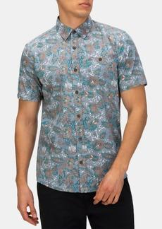 Hurley Men's Skulls and Leaves Shirt