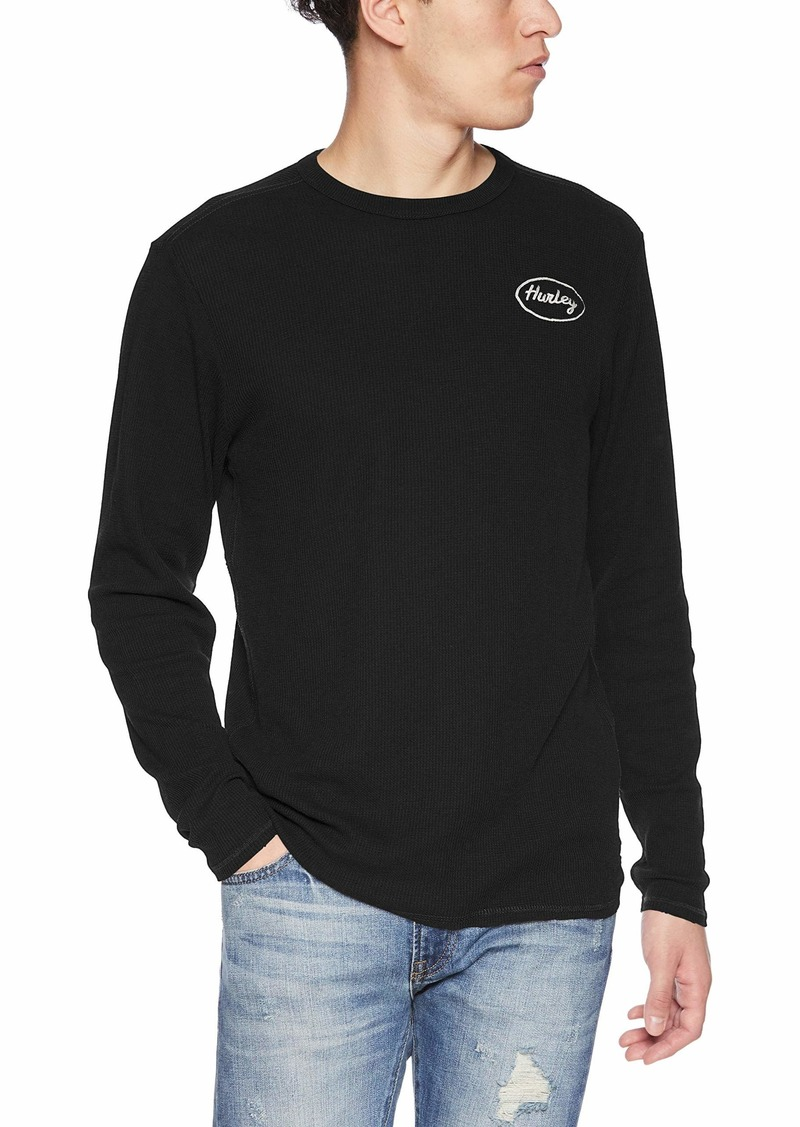 Hurley Men's Solid Embroidered Long Sleeve Thermal Shirt  M