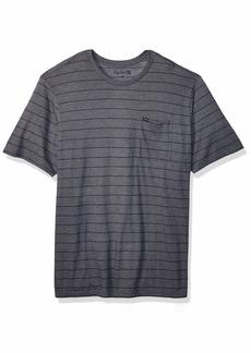 Hurley Men's Striped Pocket Crew Neck Tshirt  XXL