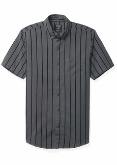 Hurley Men's Striped Short Sleeve Button Down Woven Shirt  M